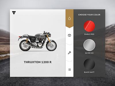 DailyUI - Day 007 triumph settings motorcycle 006 dailyui