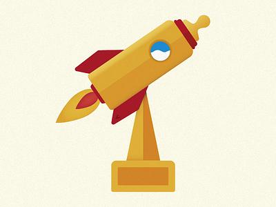 Junior Award Illustration vector award birth baby rocket