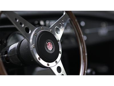 MG Steering Wheel car cockpit vintage english raw photography sportscar mg
