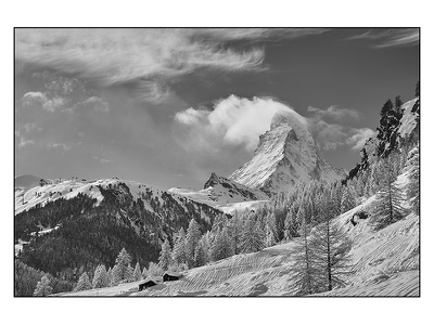 The Horn bw photography mountains switzerland