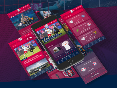 RB Leipzig App Concept mobile red bull digital app design bundesliga soccer