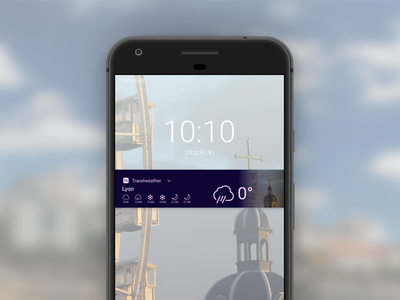 weather app on Notification window design ui dailyuichallenge dailyui