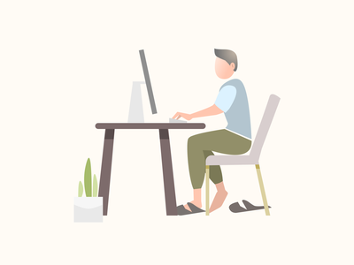 Working from home vector illustration graphic