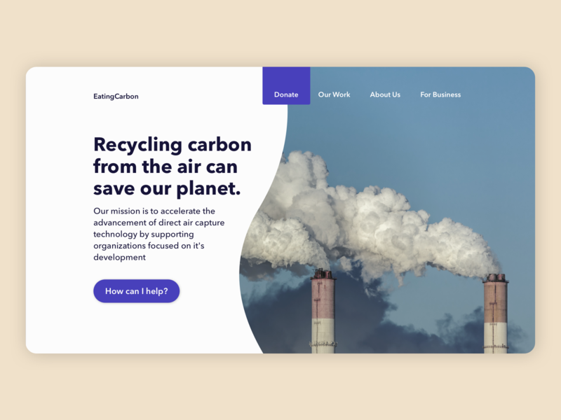 Charity website design recycling carbon charity ui branding landing page sketch web design design graphic