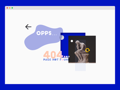 008 Oops! 404 pagen |||ˊˋ web daily 100 challenge sketch vector graphic design