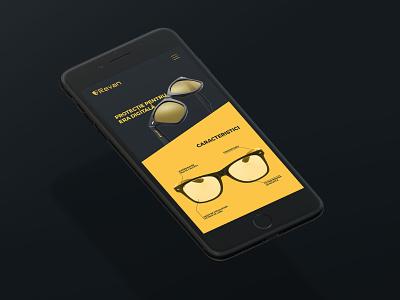 Revan Glasses - website website protection glasses computer glasses ui  ux ui design web design webdesign
