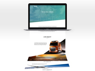 Tahl Logistics - website logistics company logistics app web design ui design web ui website