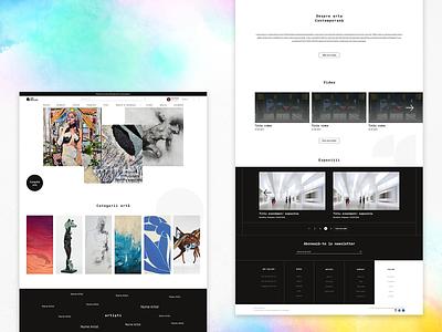 Art Gallery Website online community online shop art exhibition gallery art artist web design website ui design uiux