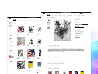 Art Gallery shop art collective artist online community online shop abstract art web design website ui design uiux