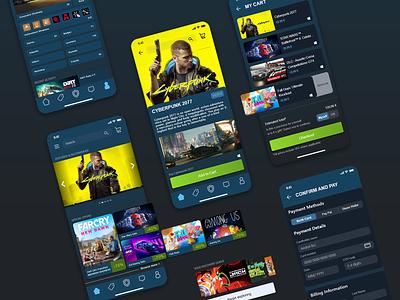 Steam App Redesign dailyuichallenge daily ui ui challenge uichallenge pc gaming game store gaming app app design app ui steam redesign minimal ui  ux ui ui design
