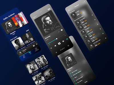 Tidal app interaction design music player music app zhu drake playlist cover player ui music player ui ui design minimalism ui