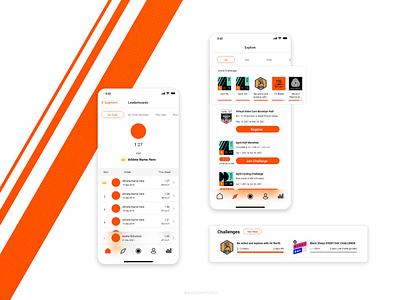 Strava App Design strava sport app mobile app design app design time table leaderboards challenges bike ride cycling app running app sports ui design design ux ui