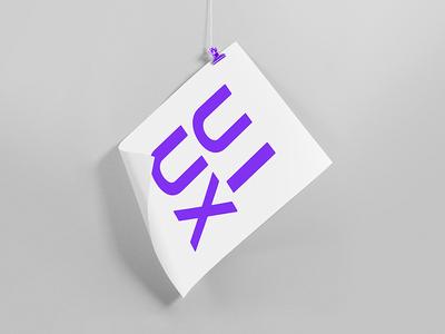 UI UX symbol gradient minimalism light lines branding pattern logo design shapes badesign