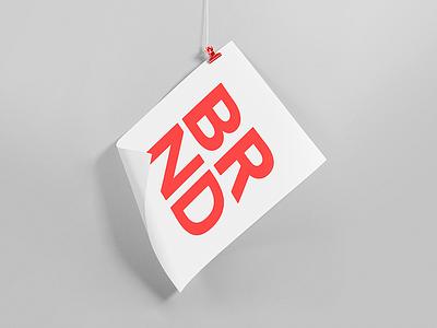 BRND symbol gradient minimalism light lines branding pattern logo design shapes badesign