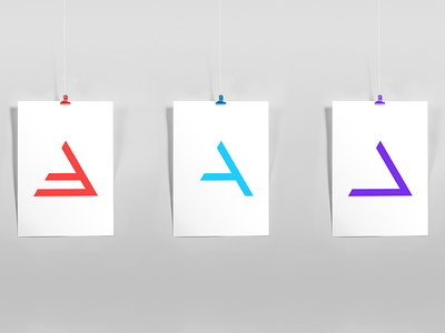Lettering symbol gradient minimalism light lines branding pattern logo design shapes badesign