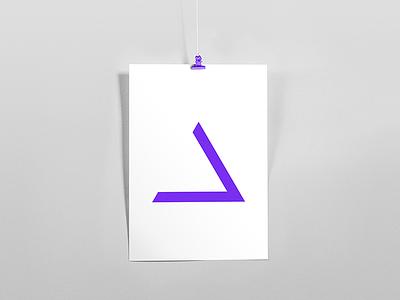D symbol gradient minimalism light lines branding pattern logo design shapes badesign