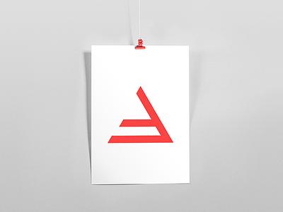 B symbol gradient minimalism light lines branding pattern logo design shapes badesign