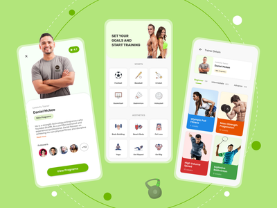 Hire a Trainer Mobile App mobile design ui design ux design adobe xd