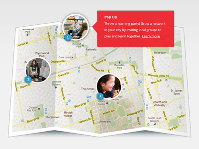 Map ui map web design