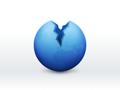 Browser browser icon blue breach crack