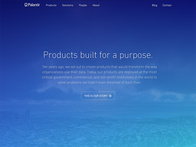 Palantir Home Page palantir home website
