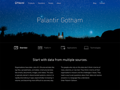 Palantir Gotham palantir product website