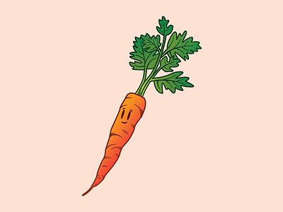 Carrot illustration series veggies carrot