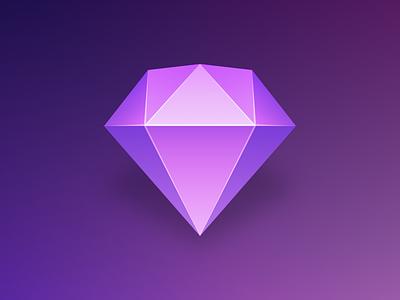 Sketch Diamond diamond sketch purple icon gem