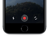 Record video record broadcast ios mobile ui interface