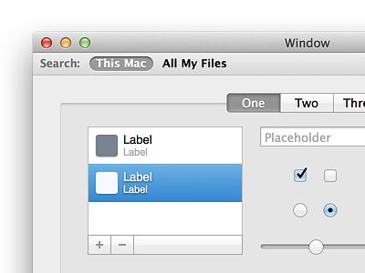 OS X UI Kit for Sketch mac ui kit sketch mac os os x user interface