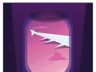 plane illustration vector illustration design