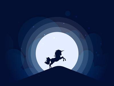 Unicorn Silhouette.. vector illustration design