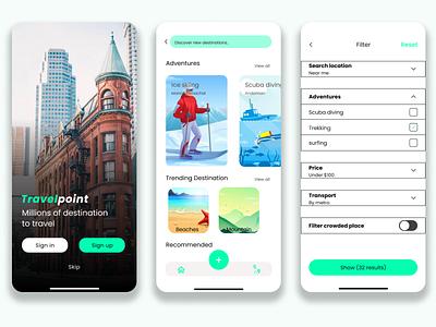Travel Point App illustration vector ui design