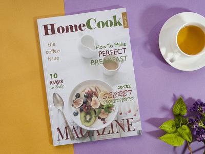 Homecook Magazine cover branding photoshop design