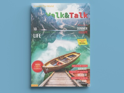Walk&Talk Magazine cover magazine photoshop design