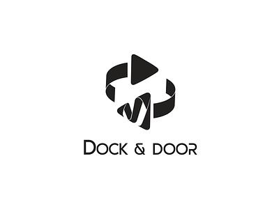 Dock & Door inspiration icon design graphics elegant creative concept brand logo design modern design icon logo
