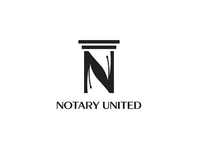 NOTARY UNITED modernlogo modern logotype graphicdesign graphic design branding illustration logo graphics elegant design creative concept brand