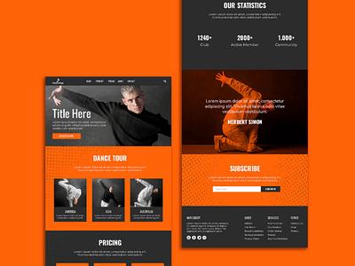 Dance portfolio template | design illustration ui branding logo outsource2bd web development dancer portfolio dancer web design web design