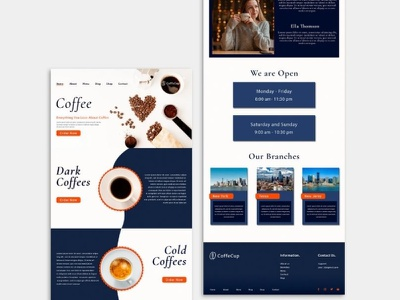 Coffeehouse Template Design | WordPress web Design branding outsource2bd design web development web coffee house coffeeshop webdesign