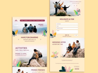 Travel & Tourism Website Design Template illustration branding design outsource2bd web development wordpress design web design