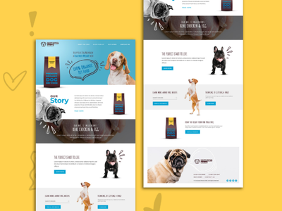 Organic Dog Food Web Design & Development - Free PSD ui vector illustration branding outsource2bd web development web design free psd organic dog food dog food website