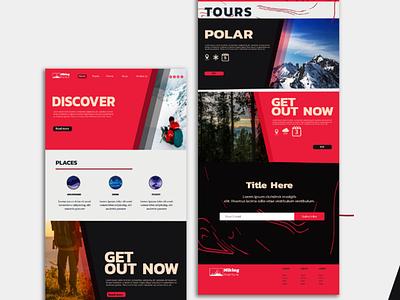 Hiking Landing Page Design | Hiking Website Designs vector branding illustration webdesign outsource2bd web development web design landing page design hiking website