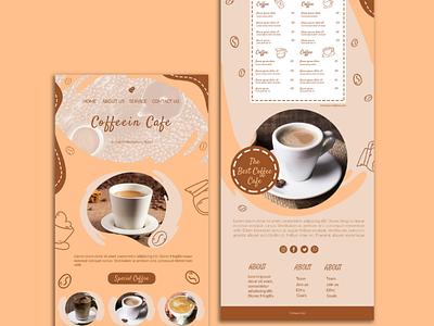 Cafe Website Design | Web Design for Coffee Cafes ui illustration branding outsource2bd coffee shop website making web development web design