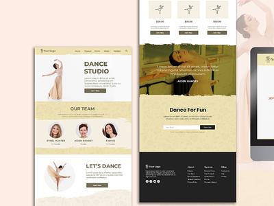 Dance Studio Website Design and Web Development - Free PSD design ui webdesign illustration branding outsource2bd web development web design
