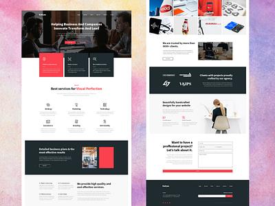 Business agency website design and development service branding illustration web development web design outsource2bd company web design service business web design agency web design
