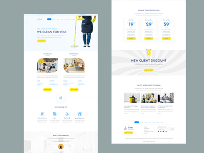 Best Cleaning Company Website Design - Free PSD branding webdesign web development company web design cleaning company outsource2bd web design cleaning website
