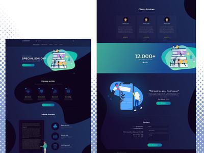 eBook Website Design | Free PSD design ui design webdesign branding web development outsource2bd ebook web design web design
