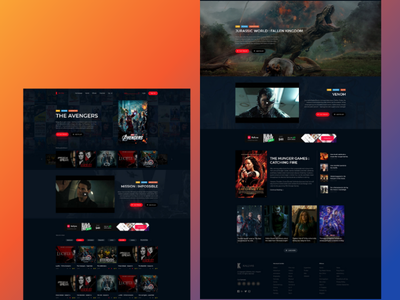 Movie Presenter Web site Design template | Free PSD webdesign design branding web development outsource2bd web design movie website