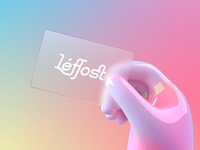 Leffost Typeface-Modern Serif ui illustration design typography hand font card graphic design 3d