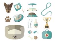 Dog World Vector Icon Set
